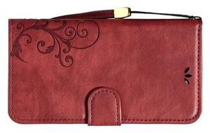 ACU-UINT Iphone 6 Wallet Wristlet in red (wine, merlot, maroon)