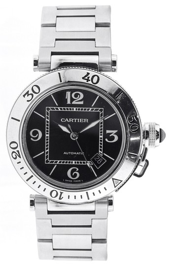 Cartier Cartier Pasha Seatimer 40.5MM - Stainless Steel - Black Dial - W31077M7