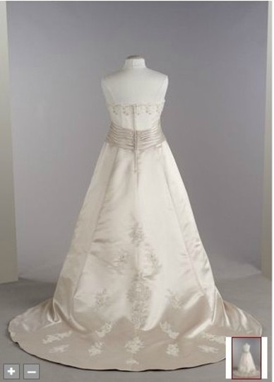 David's Bridal Ivory Satin 9t8580 Modern Wedding Dress Size 16 (XL, Plus 0x)