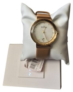 Skagen Denmark Skagen Women's Sand Leather Strap 35mm