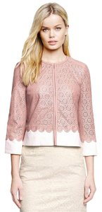 Tory Burch Coat Leather Pink Leather Jacket