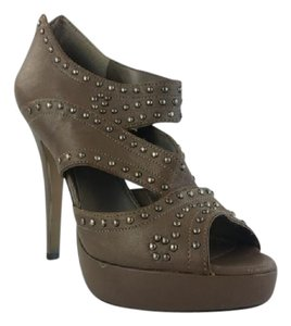 Vince Camuto Cutoutpumps Studded Peeptoe Olive Boots