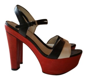 Stuart Weitzman Artsy red, black and white Sandals