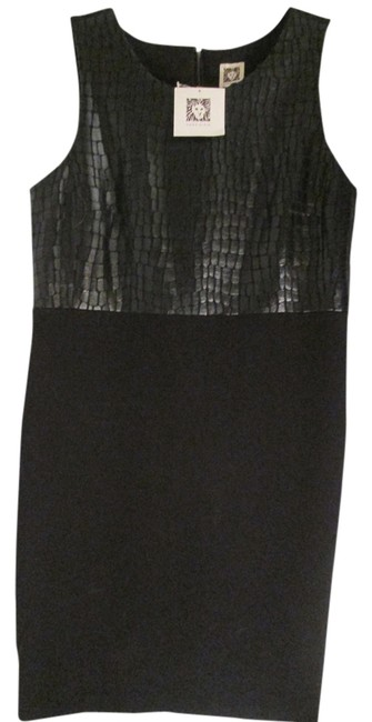 Anne Klein Textured Leather Casual Dress