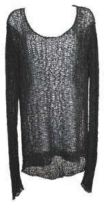 Helmut Lang Black Knit Sweatshirt