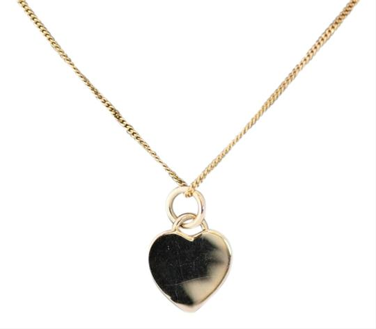 Tiffany & Co. Vintage 14k yellow gold Tiffany and Co heart tag necklace