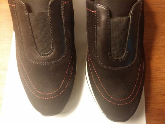 Salvatore Ferragamo Suede And Leather Made In Italy Black Athletic