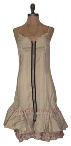 Anthropologie short dress BEIGE Striped on Tradesy