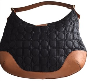 Kate Spade Leather Satchel in Black and Cognac