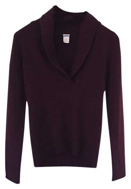 Preload https://item4.tradesy.com/images/jcrew-wineburgundy-cashmere-sweaterpullover-size-4-s-5413003-0-0.jpg?width=400&height=650
