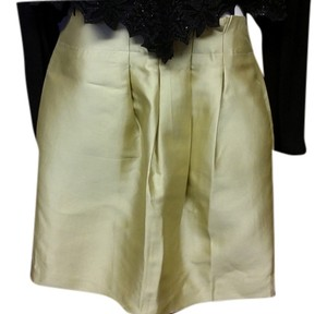 Banana Republic Mini Skirt Gold