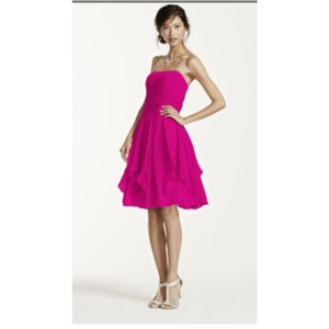 David's Bridal Begonia Dress