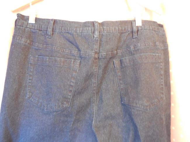 DG2 by Diane Gilman Plus-size Accented Pockets Faux Boot Cut Jeans-Dark Rinse