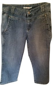 Adolfo Capri/Cropped Denim-Medium Wash