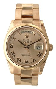 Rolex Rolex Datejust President - 36MM Rose Gold - Oyster Bracelet - Domed Bezel - 118205