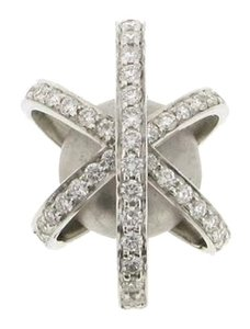 Designer 14k white gold & 3/4 carat diamond bead slide pendant