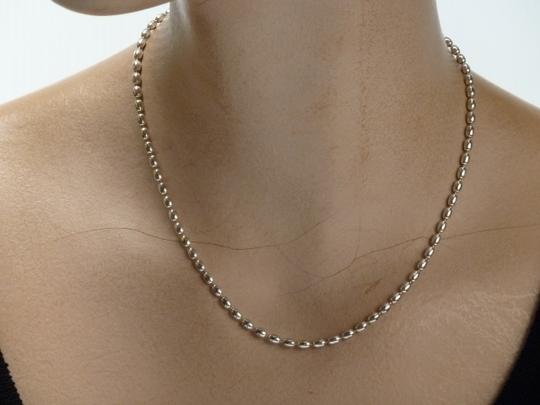 Other CHARLESTON 3 MM RICE BEAD STERLING SILVER NECKLACE 925