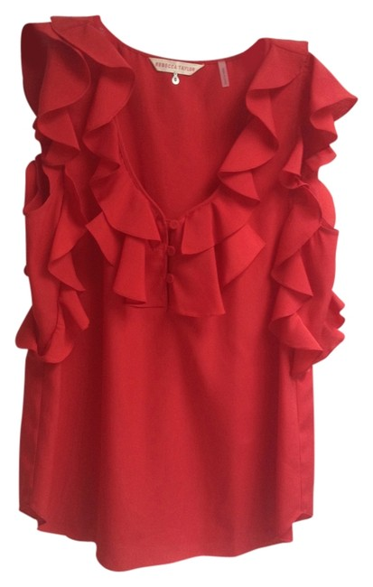 Preload https://item2.tradesy.com/images/rebecca-taylor-cherry-red-ruffled-silk-blouse-night-out-top-size-8-m-5414626-0-0.jpg?width=400&height=650