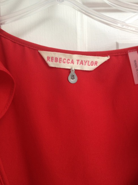 Rebecca Taylor Top Cherry Red
