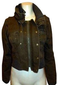 LONDON Designer Womens OLIVE GREEN Womens Jean Jacket