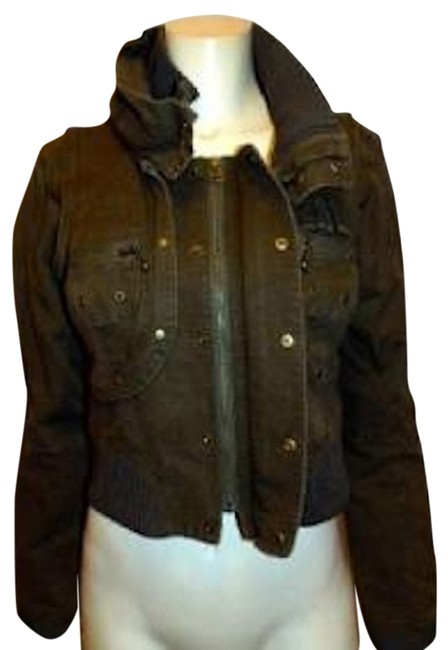 LONDON Size Small OLIVE GREEN Womens Jean Jacket