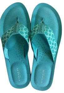 Coach Bright Turquoise Sandals