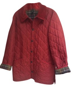 Barbour Preppy Quilted Rusty Red Jacket