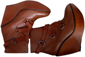 Robert Clergerie Wedge Platform Made In France Brown Boots