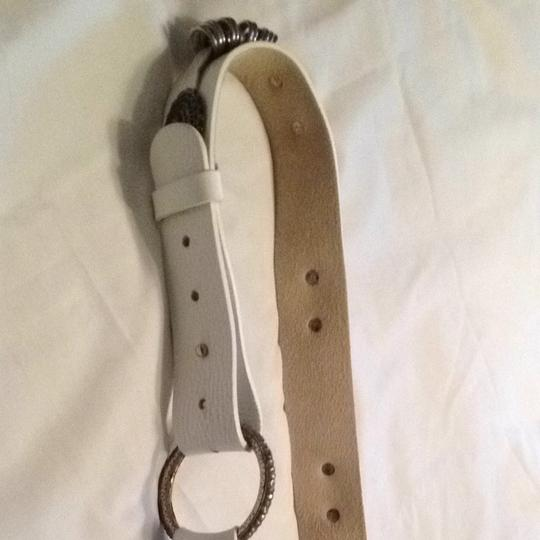 Chico's White Leather Belt