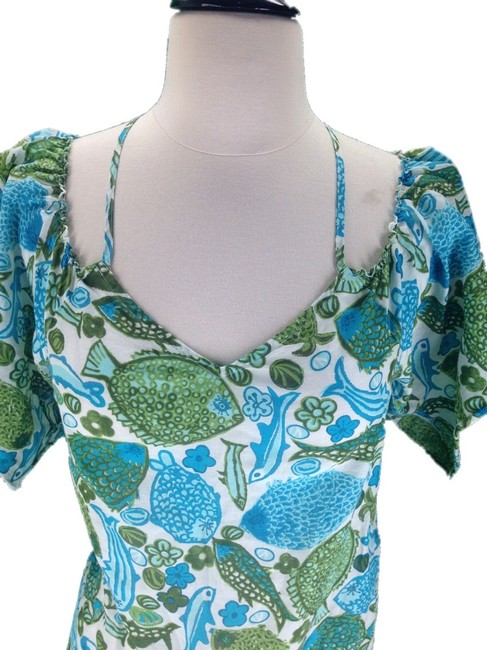 Anthropologie Top Green Blue