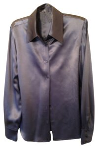 Dana Buchman Silk Bucnman Top blue