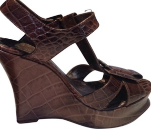 Roberto Cavalli Brown Wedges