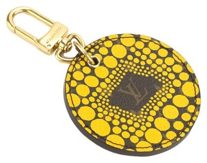 Louis Vuitton Louis Vuitton Yellow Rond Yayoi kusuma Porte Cles Keyring (Authentic Pre Owned)