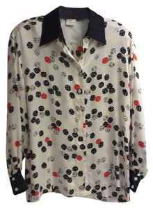 Escada Vintage Top Dice Print