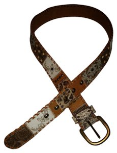 Chico's Multi Dimensional Brown/Tan Belt