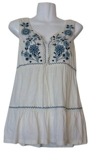 Anthropologie C. Keer Embroidered Tunic