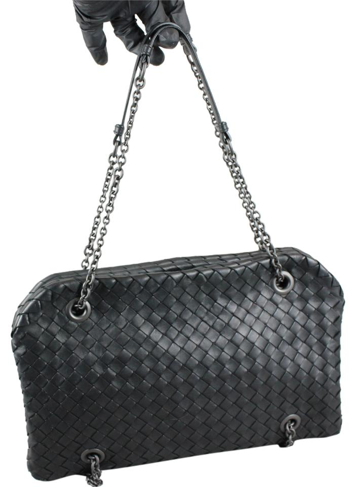 cf64de1376 Bottega Veneta Intrecciato Nappa Duo - Black Leather Cross Body Bag ...