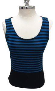 Akris Punto Neiman Barneys Saks Sweater Vest Top Blue & Black