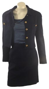Chanel Chanel Iconic Couture Navy Jacket and Skirt Size 2.