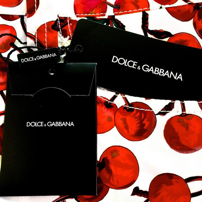 Dolce&Gabbana Cherry Relaxed Pants RED, WHITE & GREEN & YELLOW
