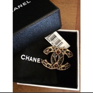 Chanel Chanel CC Enamel Pin Brooch