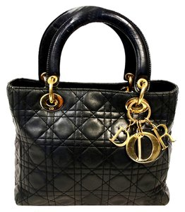 Dior Quilted Lambskin Tote Grand Shoulder Bag