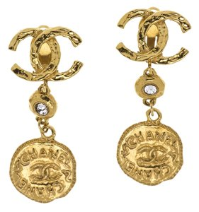 Chanel Chanel Gold Dangle Earrings