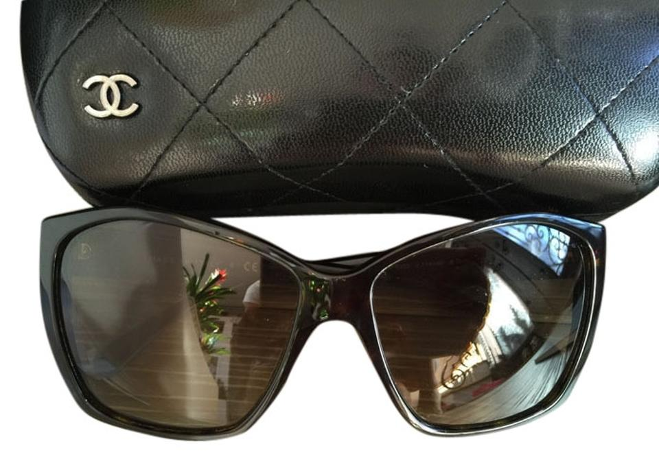 867f714a2c237 Chanel Brown Box Details About 5203 Glitter Cc Logo C.714 4p   Quilted Case  Receipt Sunglasses