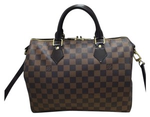 Louis Vuitton Speedy Ebene Damier Bandouliere Cross Body Bag