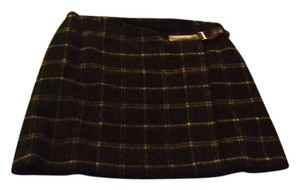 Jenne Maag Mini Skirt Brown plaid