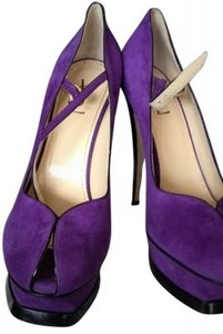 Saint Laurent Ysl Yves High Heels Purple Pumps