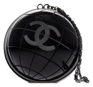 Chanel Globe Black Clutch