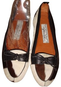 Glacee BLACK, BROWN AND BEIGE PONY-HAIR Flats
