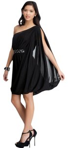 bebe Drama Sleeve Draped Dress